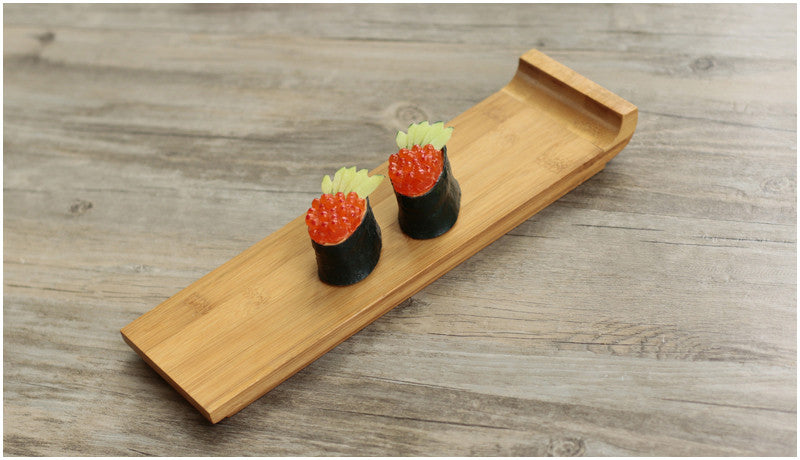 Japanese Bamboo Sushi Tray Plates Japan Dinner Plate Wood Serving Board Dinnerware Tableware Accessories Style H
