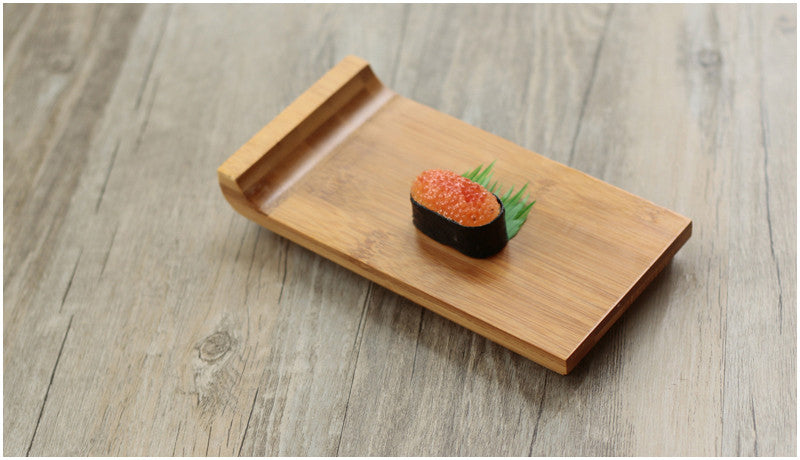 Japanese Bamboo Sushi Tray Plates Japan Dinner Plate Wood Serving Board Dinnerware Tableware Accessories Style A