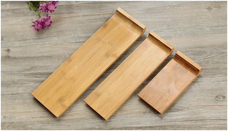 Japanese Bamboo Sushi Tray Plates Japan Dinner Plate Wood Serving Board Dinnerware Tableware Accessories Style K