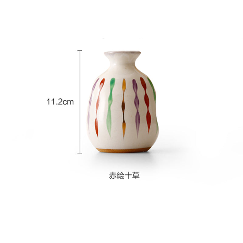 Japanese hand-painted sake bottle