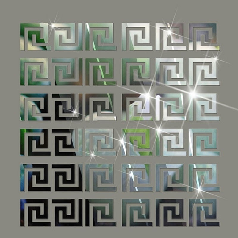 15 Piece Puzzle Labyrinth Mirror Stickers