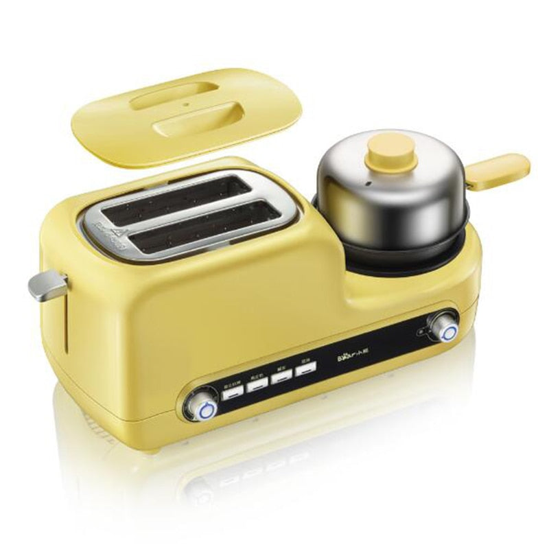 Japanese Yellow Multi-Functional Breakfast Machine Japan Egg Cooker Bacon Fryer Sandwich Toaster Kitchen Electrical Appliance Style D