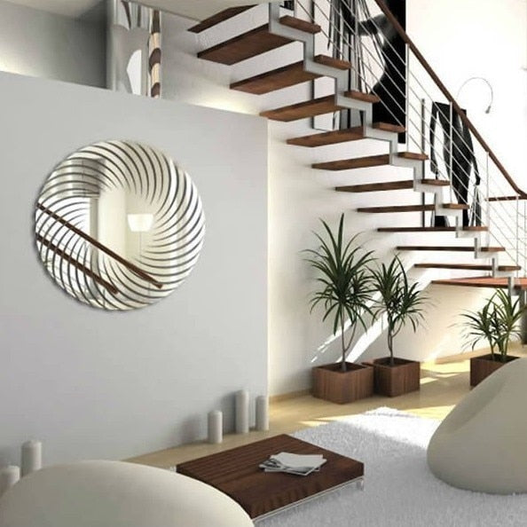 3D Round Wall Mirror Decal Home Decor Accessories