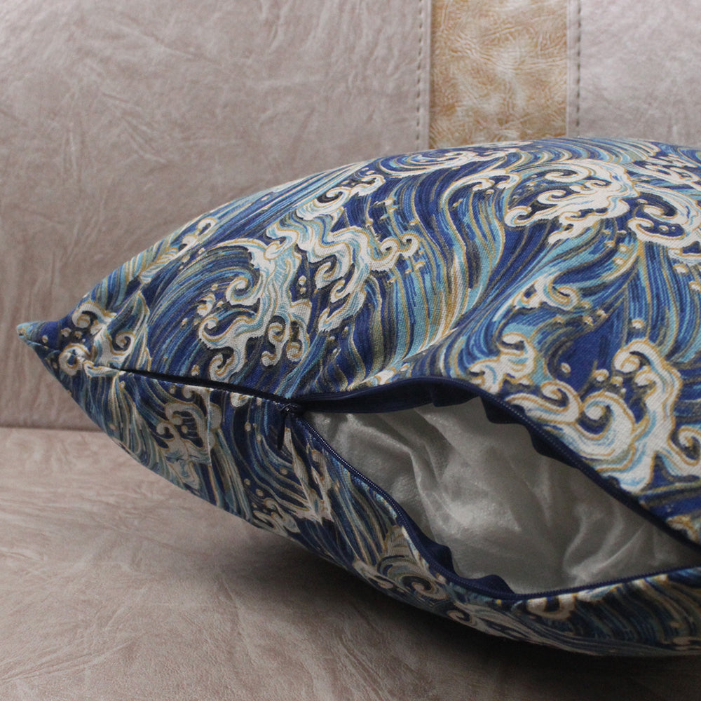 Japanese Sea Wave Cushion Covers