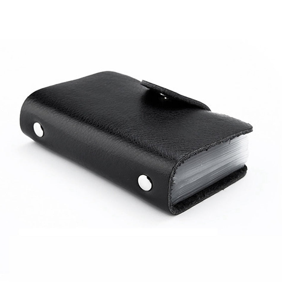 Black PU Leather Card Wallet Credit Card Business Card Passport Card Bag ID Wallets Fashion Style P