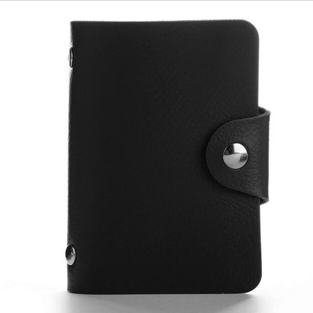 Black PU Leather Card Wallet Credit Card Business Card Passport Card Bag ID Wallets Fashion Style
