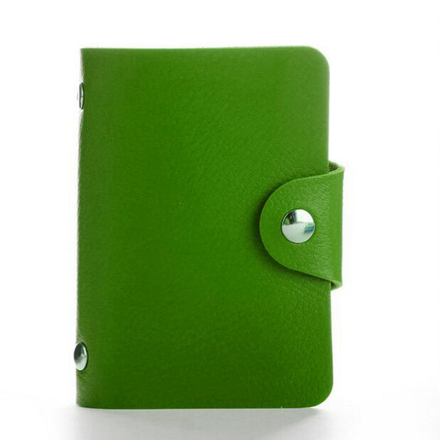 Green PU Leather Card Wallet Credit Card Business Card Passport Card Bag ID Wallets Fashion Style M