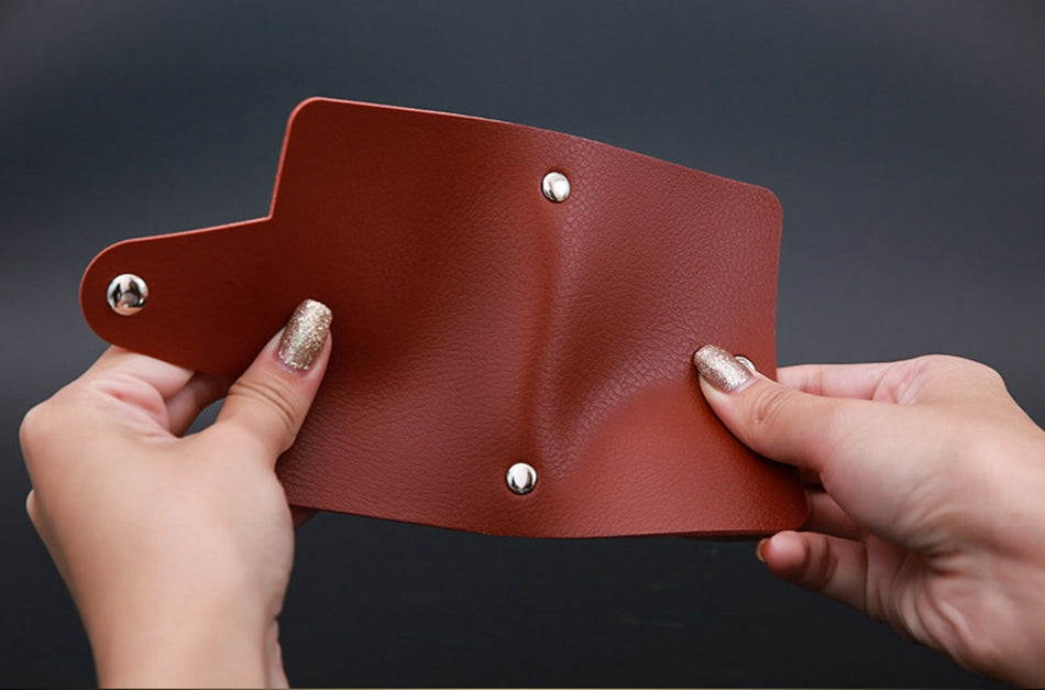 Brown PU Leather Card Wallet Credit Card Business Card Passport Card Bag ID Wallets Fashion Style G