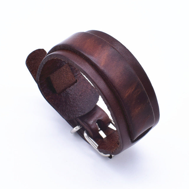 Personality Fashion Classic Adjustable Length Brown Wrap Wristband Jewelry Bracelet Jewelry Style F