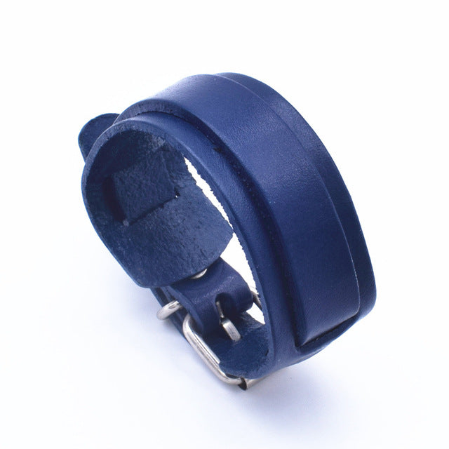 Personality Fashion Classic Adjustable Length Blue Wrap Wristband Jewelry Bracelet Jewelry Style G