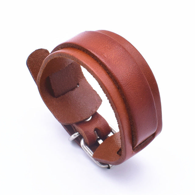 Personality Fashion Classic Adjustable Length Tan Wrap Wristband Jewelry Bracelet Jewelry Style H