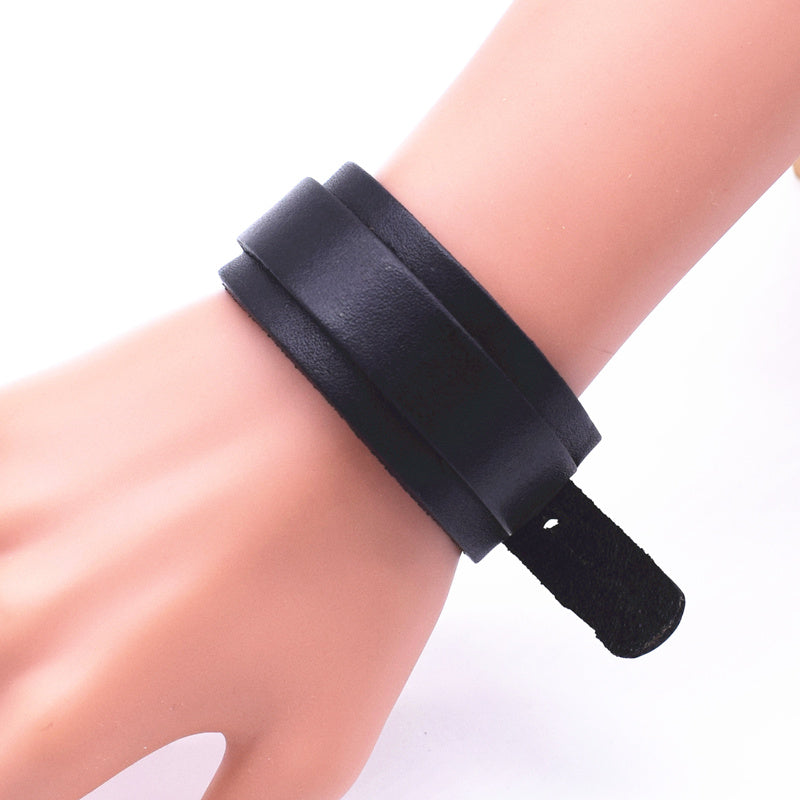 Personality Fashion Classic Adjustable Length Black Wrap Wristband Jewelry Bracelet Jewelry Style C