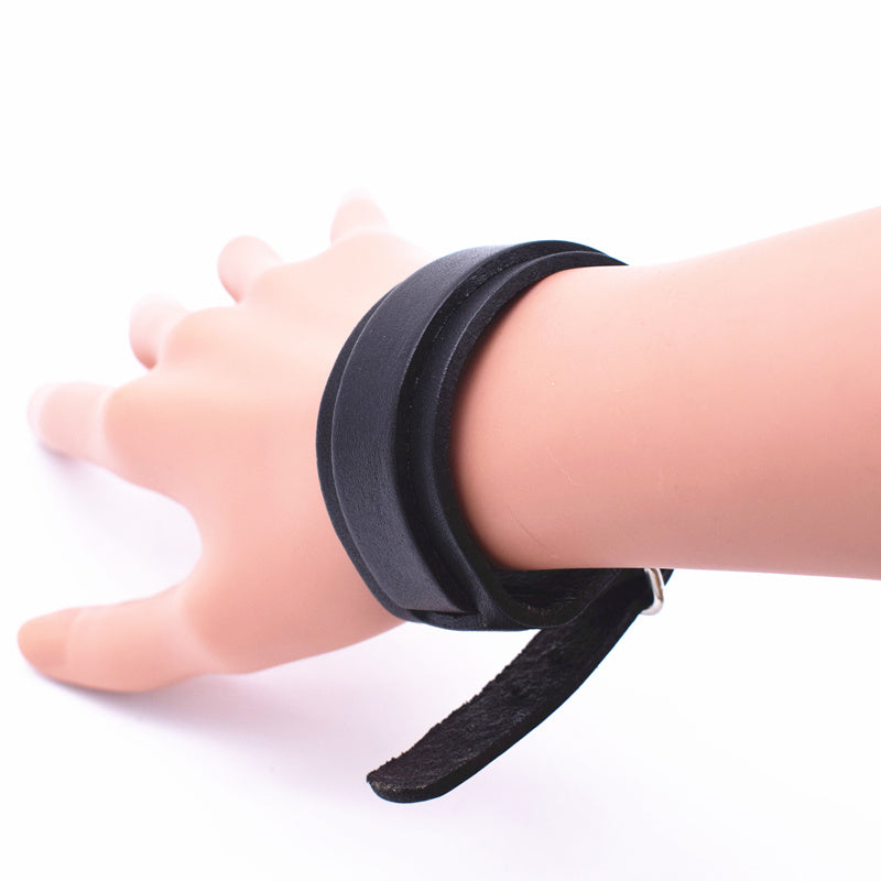 Personality Fashion Classic Adjustable Length Wrap Wristband Jewelry Black Bracelet Jewelry Style E