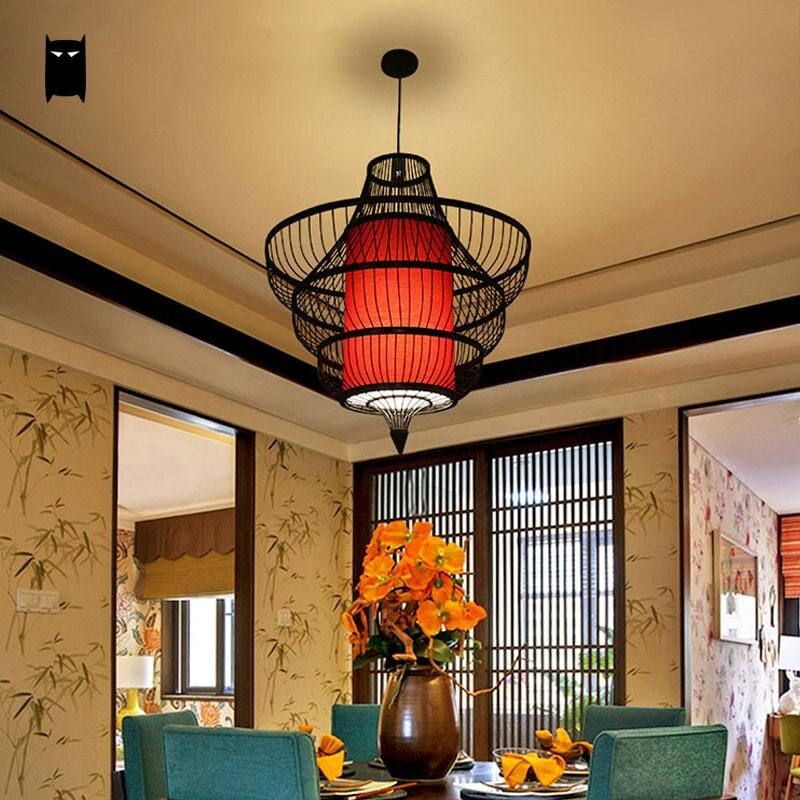 Trending Bamboo Wicker Rattan Shade Conch Pendant Light Fixture Cord Rustic Asian Japanese Lamp Lustre Plafon Luminaria Dining Table Room Japan Home Decor Lighting Accessories