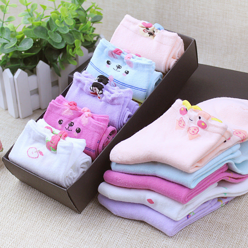 Smiley Face Blue Pink Lilac Red White Womans Cute Japanese Kawaii 5 Pairs Sock Slippers