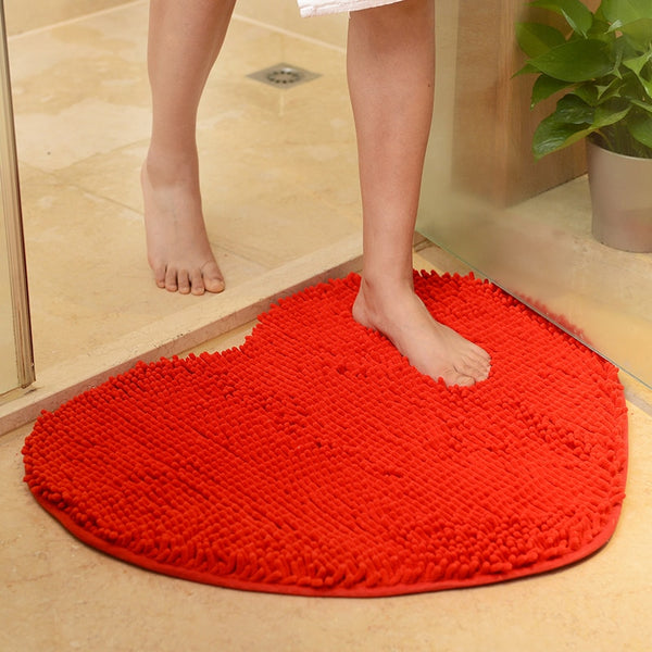 Lovely Heart Shape Floor Mat