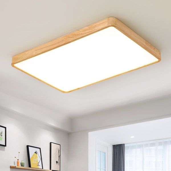 Japanese Modern Wooden LED ceiling Lamp for the living room chandeliers Hall 7cm high Japan Lighting Fixtures Accessories