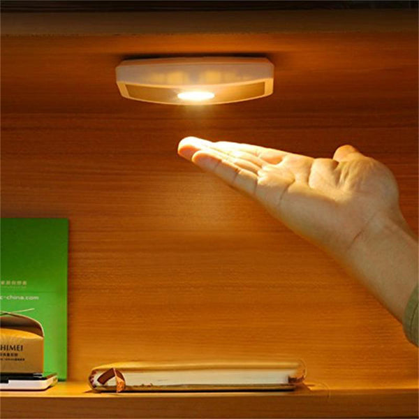 Japanese LED Night Light Wireless Wide Angle Cabinet Lamp Body Induction Motion Sensor Hallway Porch Light AAA Battery Japan Wall Lamp