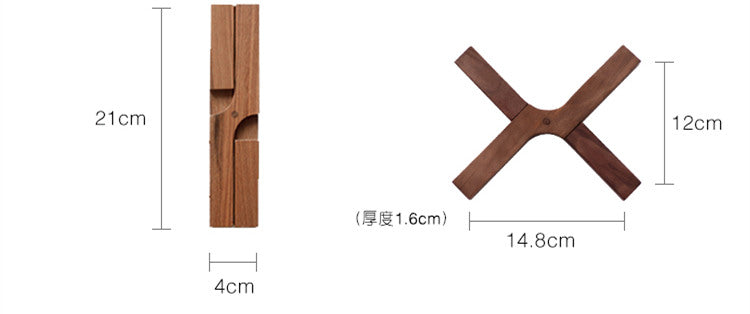 Japanese Wood Folding Coasters Japan Serverware Coaster Kitchen Dining Pot Pan Bowl Accessories Design Size Chart
