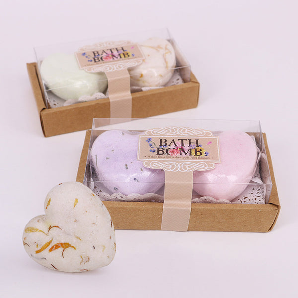 Skin Care Heart Shape Handmade Bubble Bath Bomb Ball Set Skincare