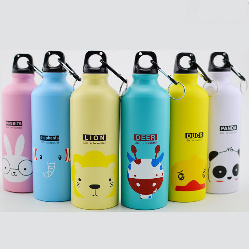 Trend 500ML Aluminum Sports Bottle Vacuum Thermal Mug Thermos 304 Stainless Steel Thermocup Creative Animals Thermal Bottle Thermos Flask