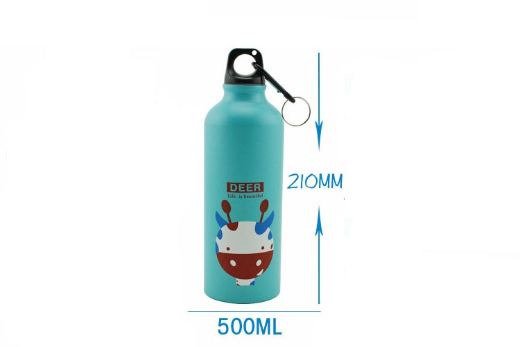 500ML Aluminum Sports Bottle Vacuum Thermal Mug Thermos 304 Stainless Steel Thermocup Creative Animals Thermal Bottle Thermos Flask Size Information