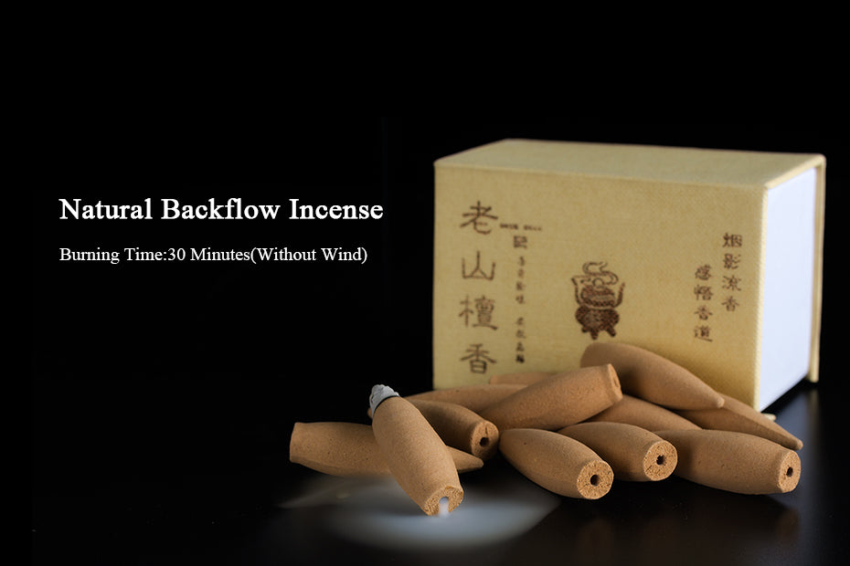 Natural Backflow Incense Cones Large Hollow Chinese Handmade Herbal Thuja Wormwood Sandalwood Fragrance Lengthened Bullet Incense Cone China Home Decor Aromatherapy Accessories Style Relaxation