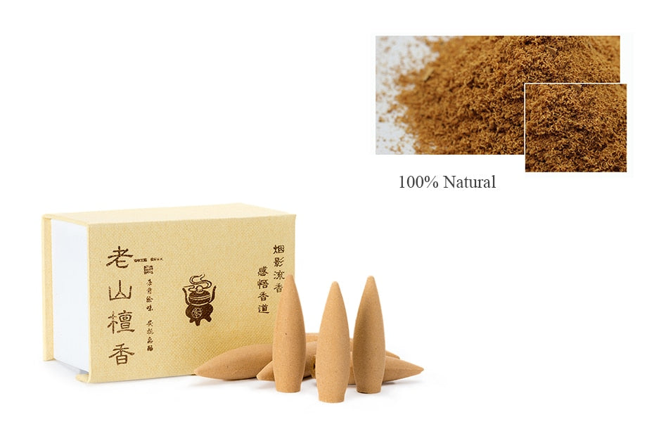 Natural Backflow Incense Cones Large Hollow Chinese Handmade Herbal Thuja Wormwood Sandalwood Fragrance Lengthened Bullet Incense Cone China Home Decor Aromatherapy Accessories Style Information