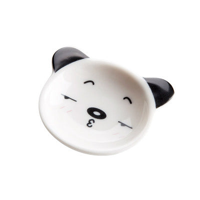 Japan Mini Panda Ceramic Sauce Dish Japanese Dining Condiment Dishes Dinnerware Tableware Accessories Style A