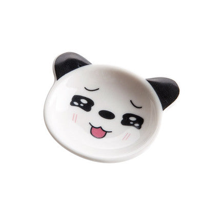 Japan Mini Panda Ceramic Sauce Dish Japanese Dining Condiment Dishes Dinnerware Tableware Accessories Style C