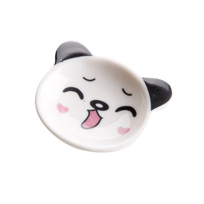 Japan Mini Panda Ceramic Sauce Dish Japanese Dining Condiment Dishes Dinnerware Tableware Accessories Style D