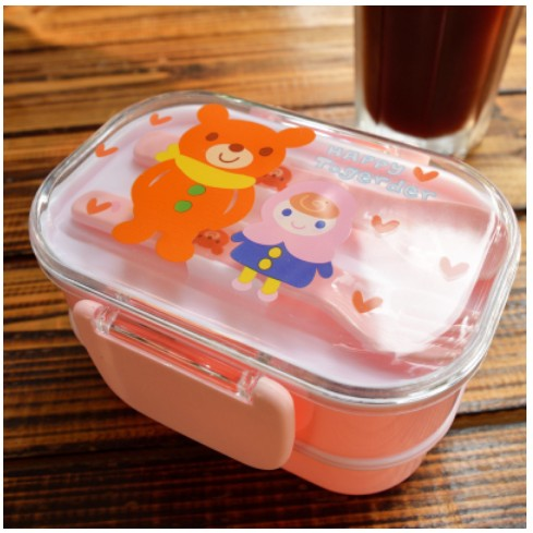 Kids Bento Lunch Boxes Pink Bento Box Style N