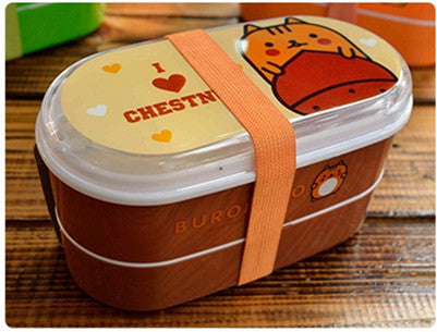 Kids Bento Lunch Boxes Coffee Brown Bento Box Style J