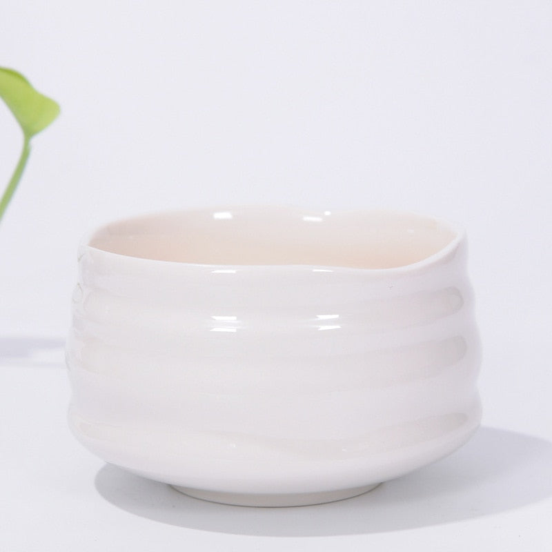 White Chawan Matcha Bowl Matcha Tea Set Accessories Japan Ceremonial Matcha Mixing Bowls Tea Ceremony Accessories
