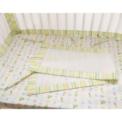 Newborn Baby Green Safety Crib Cot Bumpers Mats Babies Bedroom Bedding Sets
