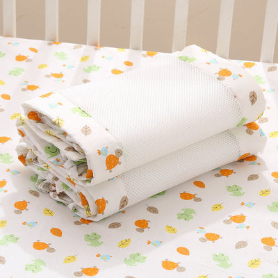 Newborn Baby White Safety Crib Cot Bumpers Mats Babies Bedroom Bedding Sets