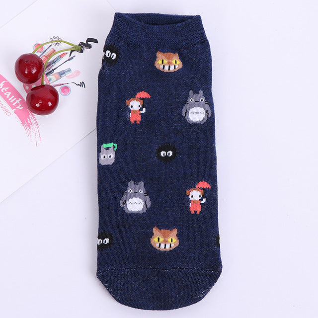 Spirited Away No Face Ankle Socks