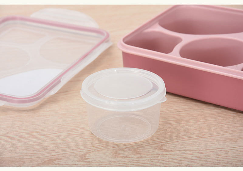 5 Compartment Microwave Bento Lunch Boxes Pink Bento Box Style F