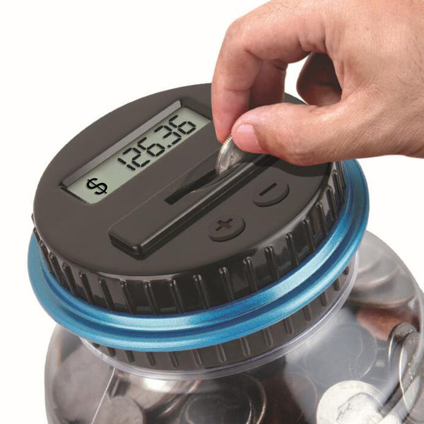 LCD Cap Auto Coin Counting Money Savings Jar US Dollar $ Money Savings Box Coin Piggy Bank Cash Boxes Child Kids Gift Home Decoration Accessories Style