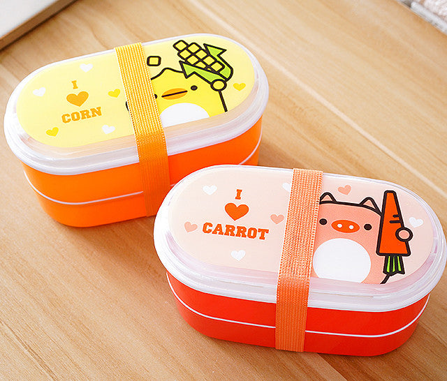 Kids Bento Lunch Boxes Orange Red Bento Box Style J