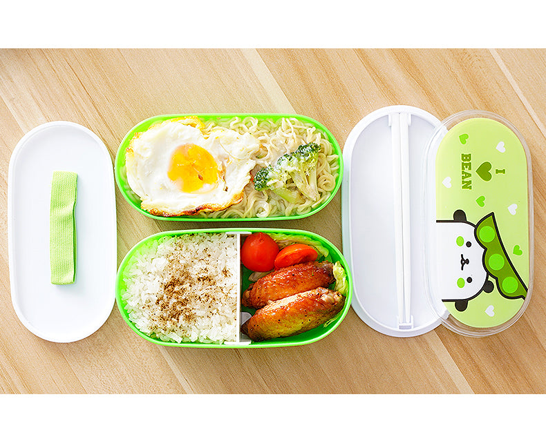 Kids Bento Lunch Boxes Green Bento Box Style B