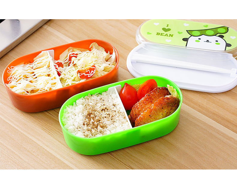 Kids Bento Lunch Boxes Red Green Bento Box Style F