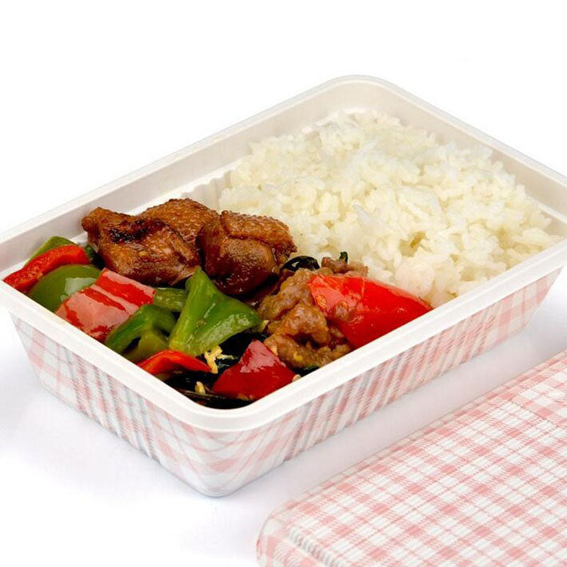 300 Piece Japanese Microwave Red Plaid Check Bento Boxes Party Catering Event Lunch Box Japan