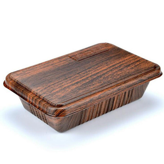 300 Piece Japanese Microwave Wood Grain Design Bento Boxes Party Catering Event Lunch Box Japan
