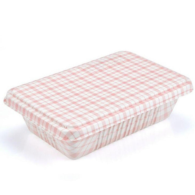 300 Piece Japanese Microwave Red Check Plaid Bento Boxes Party Catering Event Lunch Box Japan