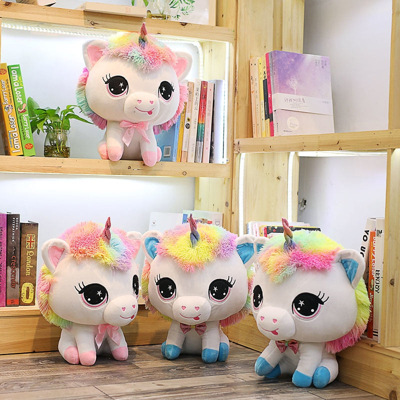 Sweet 1 Piece 35cm Lovely Unicorn Plush Doll Toy Soft Stuffed Cartoon Anime Unicorn Dolls Cute Animal Horse Toys for Children Girls Birthday Gift