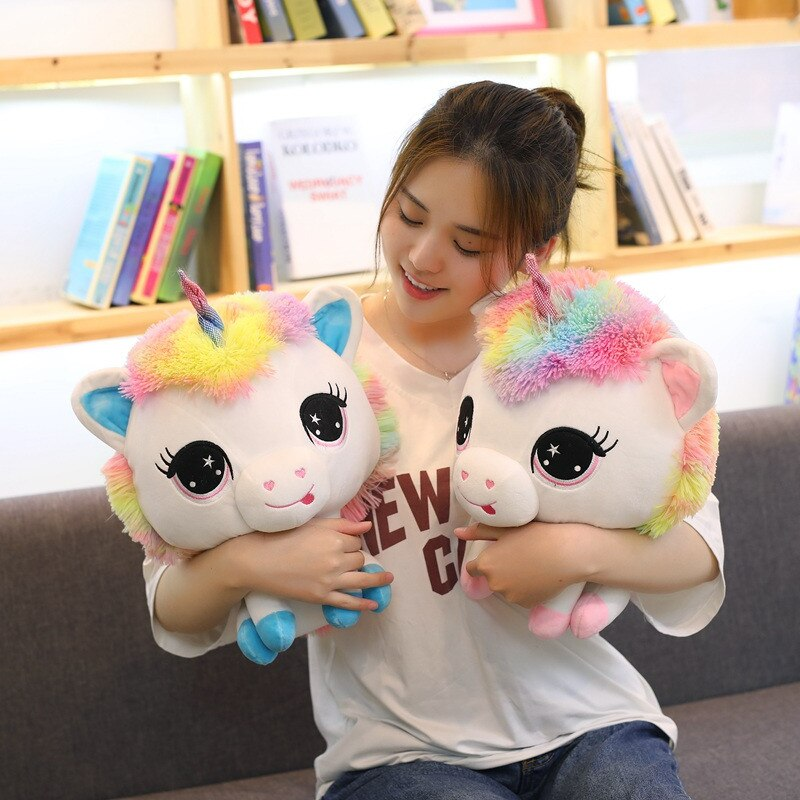 Trending 1 Piece 35cm Lovely Unicorn Plush Doll Toy Soft Stuffed Cartoon Anime Unicorn Dolls Cute Animal Horse Toys for Children Girls Birthday Gift