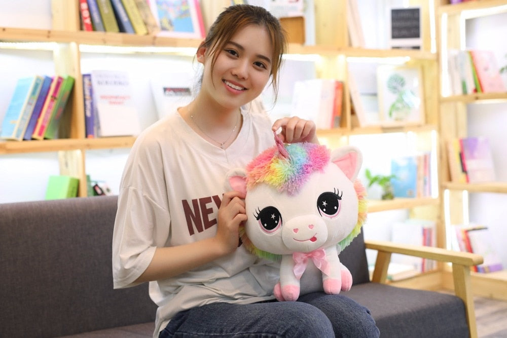 Preppy 1 Piece 35cm Lovely Unicorn Plush Doll Toy Soft Stuffed Cartoon Anime Unicorn Dolls Cute Animal Horse Toys for Children Girls Birthday Gift