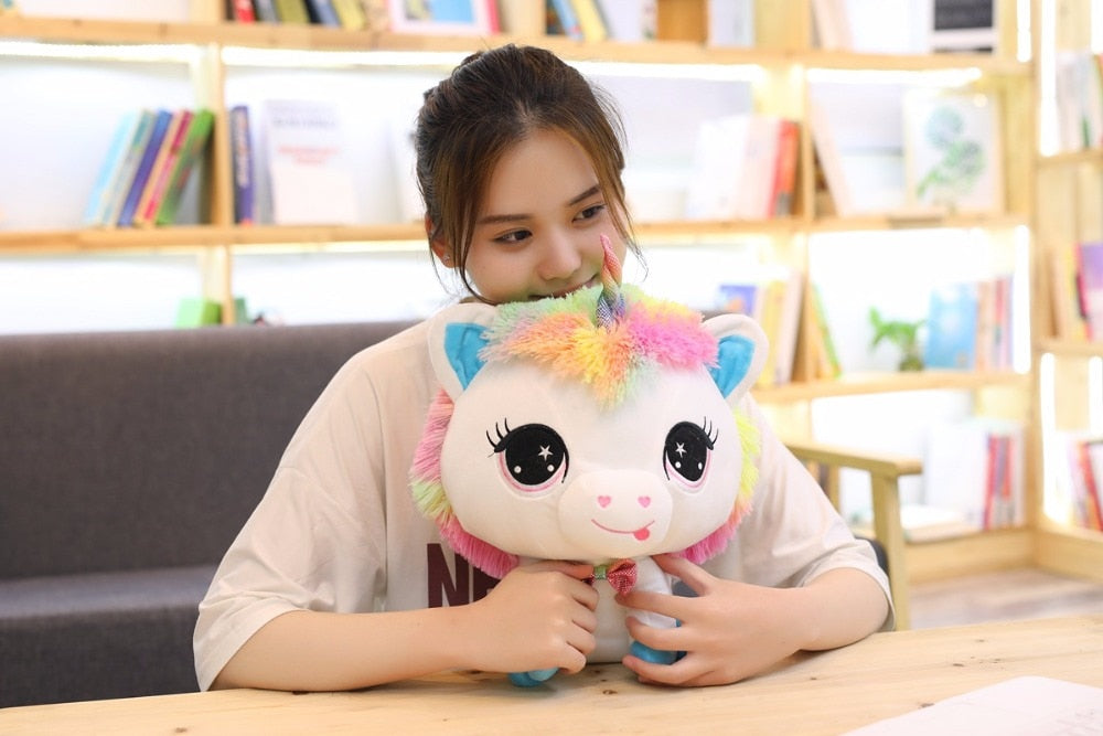 1 Piece 35cm Lovely Unicorn Plush Doll Toy Soft Stuffed Cartoon Anime Unicorn Dolls Cute Animal Horse Toys for Children Adult Birthday Gift