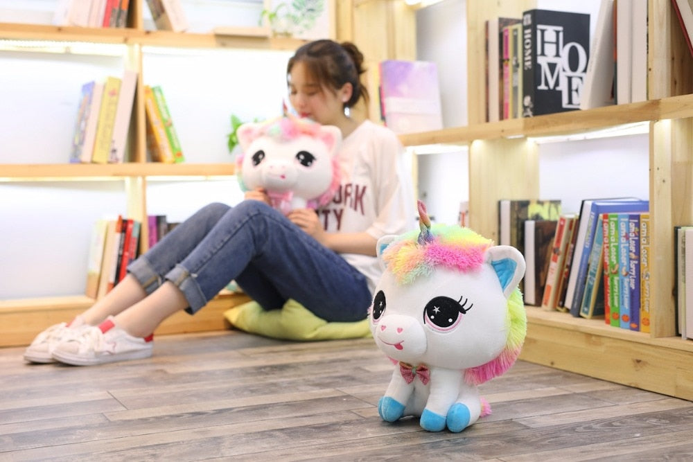 1 Piece 35cm Lovely Unicorn Plush Doll Toy Soft Stuffed Cartoon Anime Unicorn Dolls Cute Animal Horse Toys for Children Girls Birthday Gift Cuddle Companion